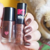Unhas: Esmalte Rainbow Party Glitter e Marronluz