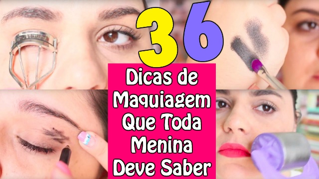 36 DICAS TRUQUES SEGREDOS de MAQUIAGEM que TODA MENINA DEVE SABER - Makeup Tips - Loi Curcio