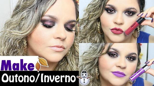 Maquiagem Outono:Inverno Para Sair Com Produtos Nacionais:Brasileiros e Baratos:Baratinhos - Loi Curcio