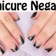 Tutorial de Unhas | Decoração Manicure Negativa – Unhas Metade Coloridas e Metade Vazadas | Veda12