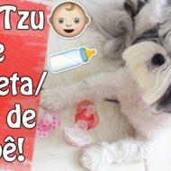 Minhas Shih Tzu (Filhas Pet) de Chupeta/Bico de Bebê de Novo (Só Que Hoje Elas Me Enrolaram, rs) | Veda13