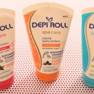 Creme Depilatório Corporal Depi Roll Spa Care, Hydrate e Sensitive Skin/Suave Shower Power